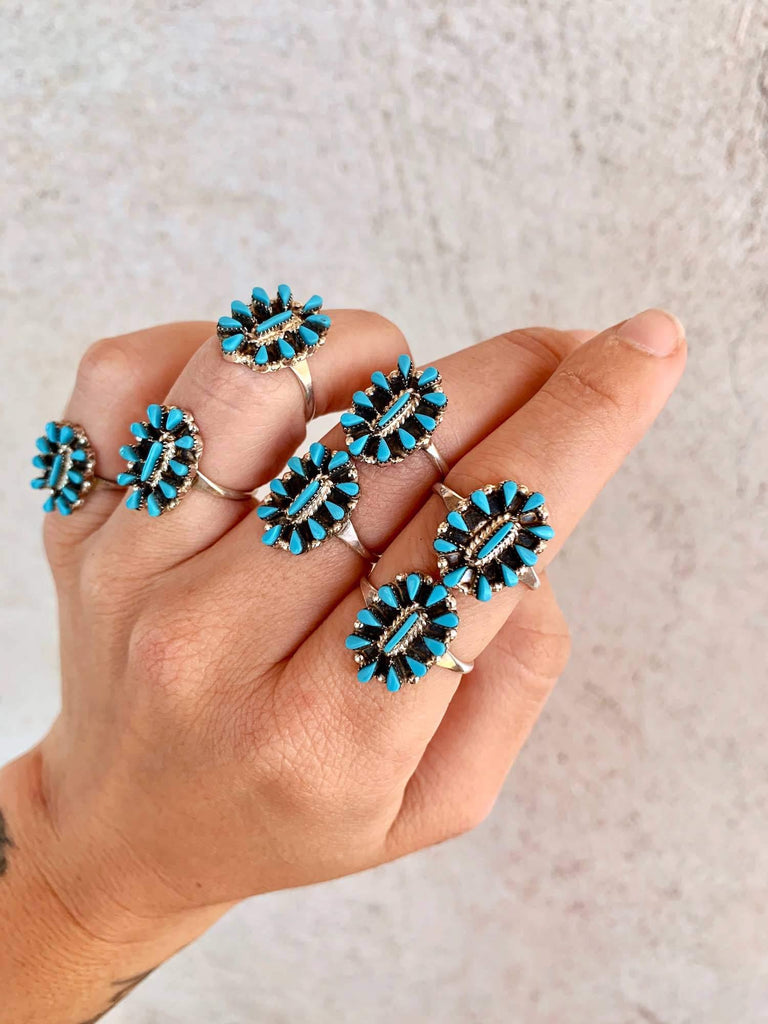 *RTS Navajo Turquoise Cluster Ring