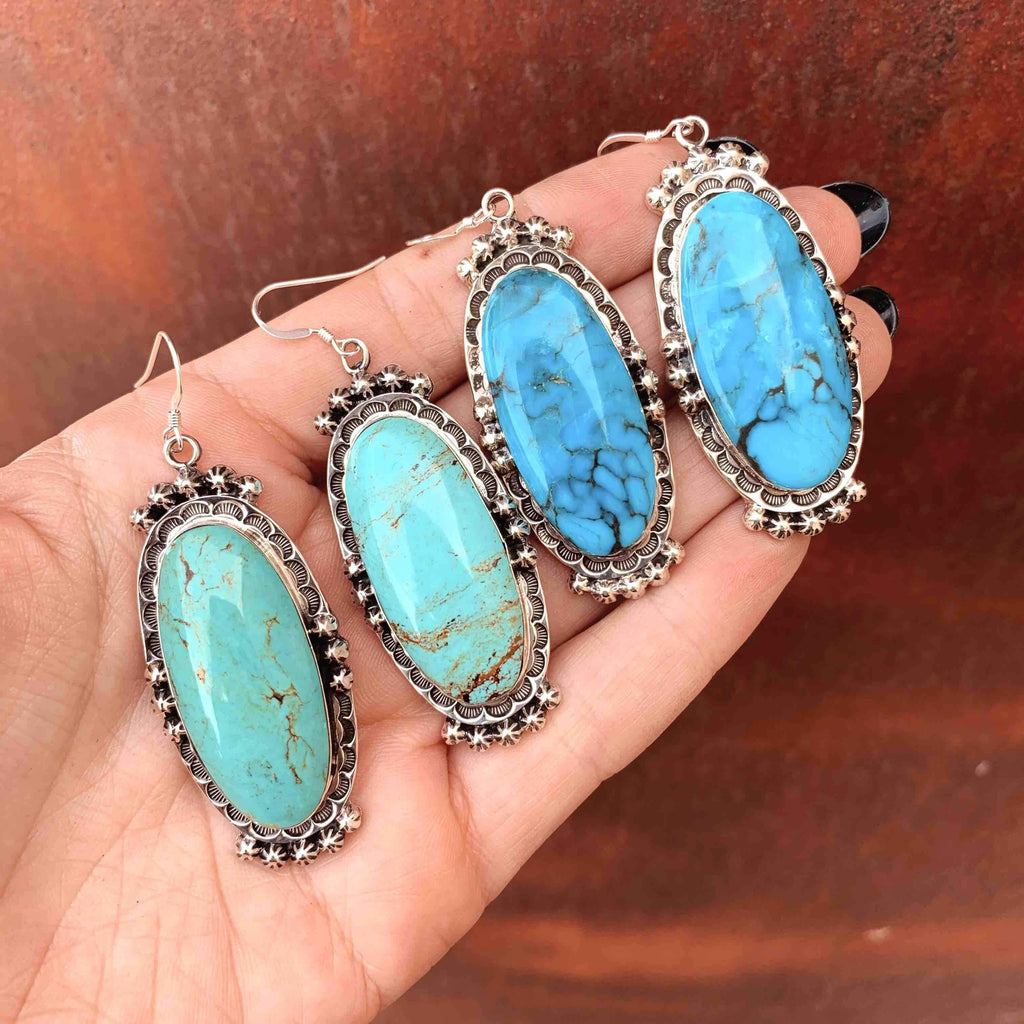 *RTS Big Navajo Turquoise Earrings