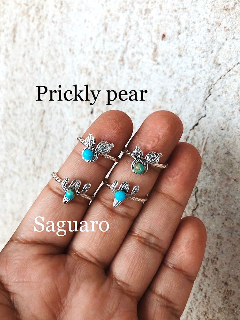 **CACTUS Turquoise Stacker Rings