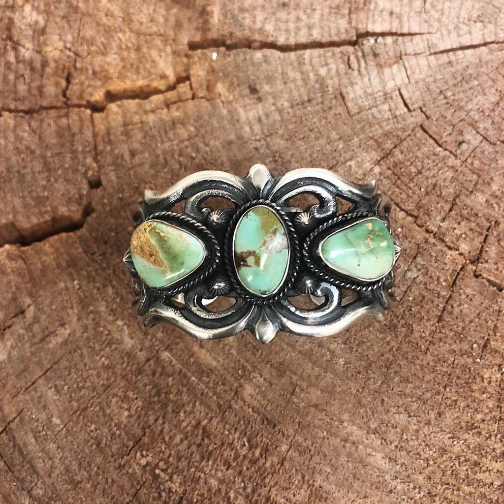 *Sand Cast Navajo Turquoise Cuff