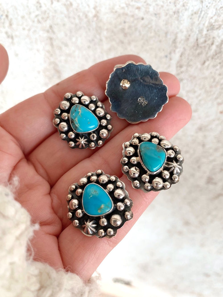 *RTS Turquoise Bubble Stud Earrings