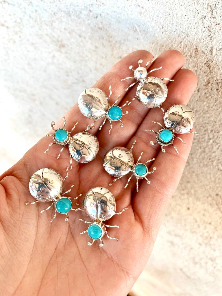 *RTS Turquoise Beetle Brooch Pins