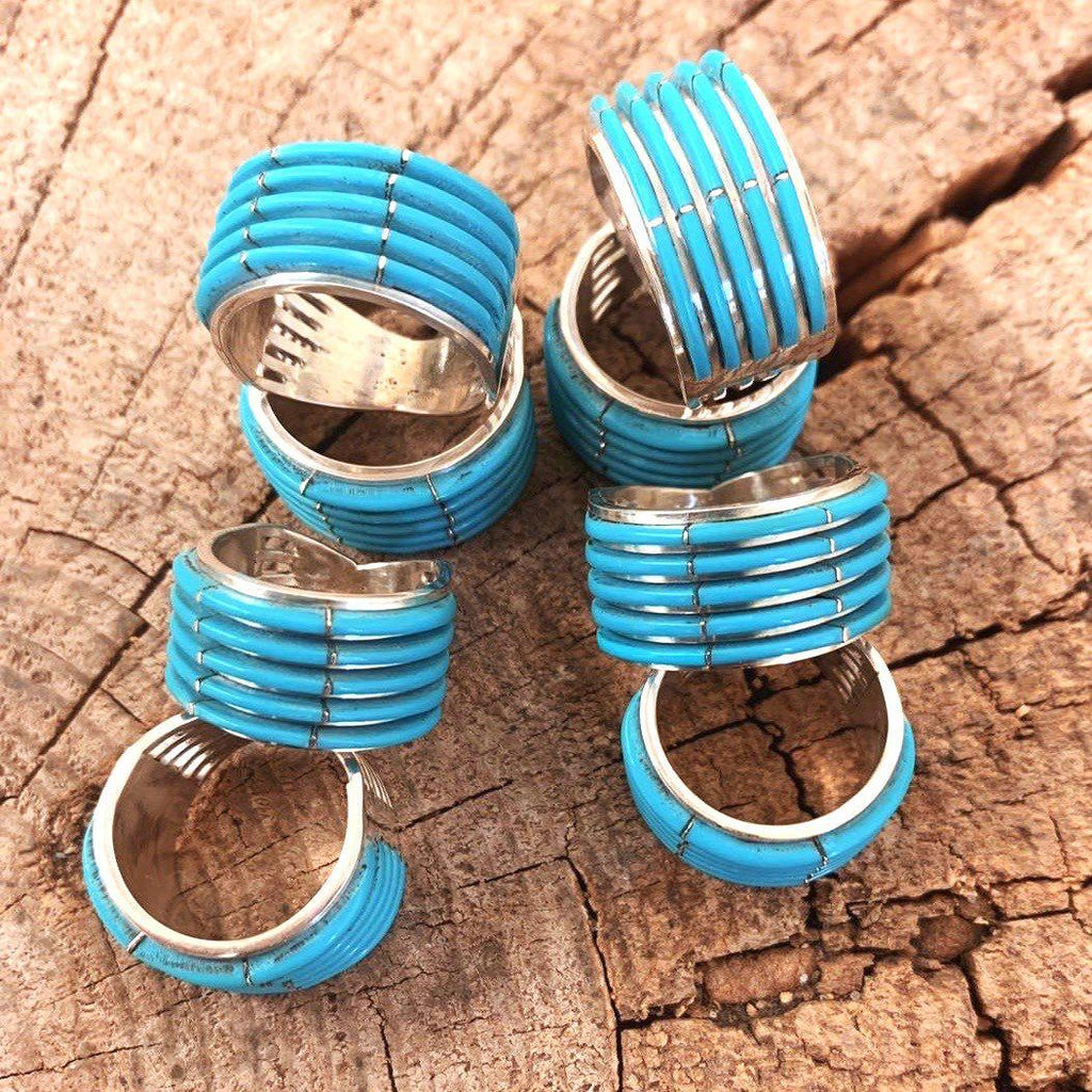 *5 Row Turquoise Cuff Ring