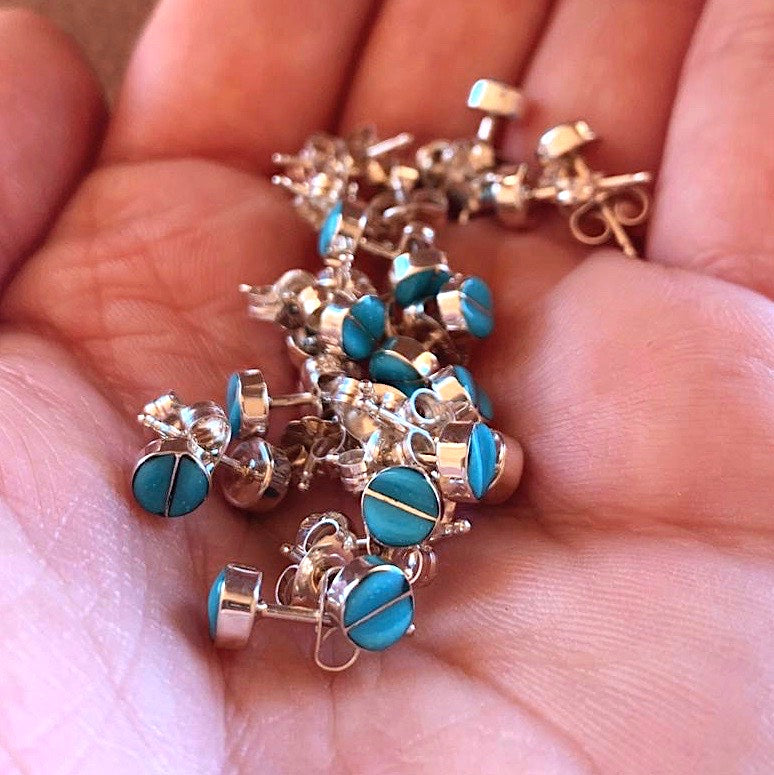 *ZUNI Turquoise Stud Earrings