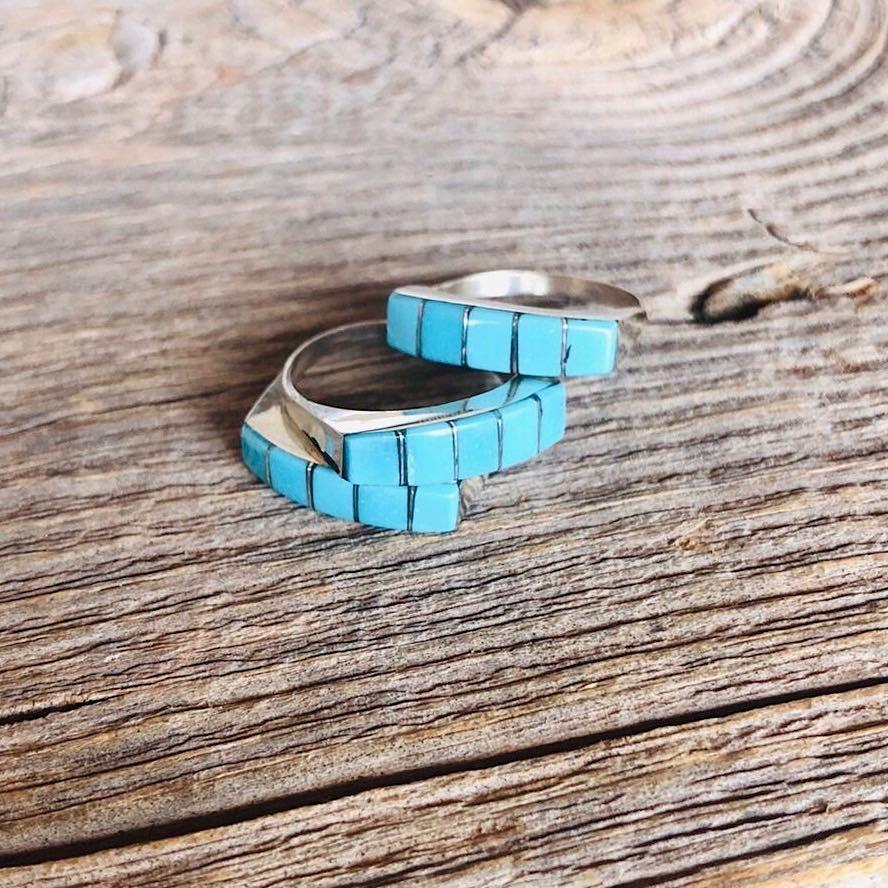 *RTS Zuni Turquoise Inlay Ring