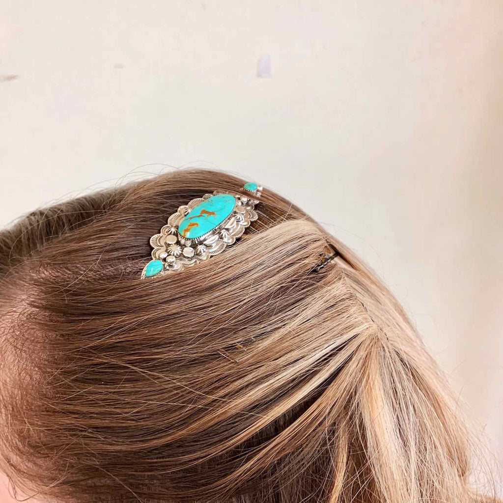 *Turquoise Hair Comb