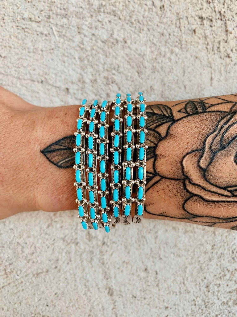 *9 Stone Turquoise Cuff