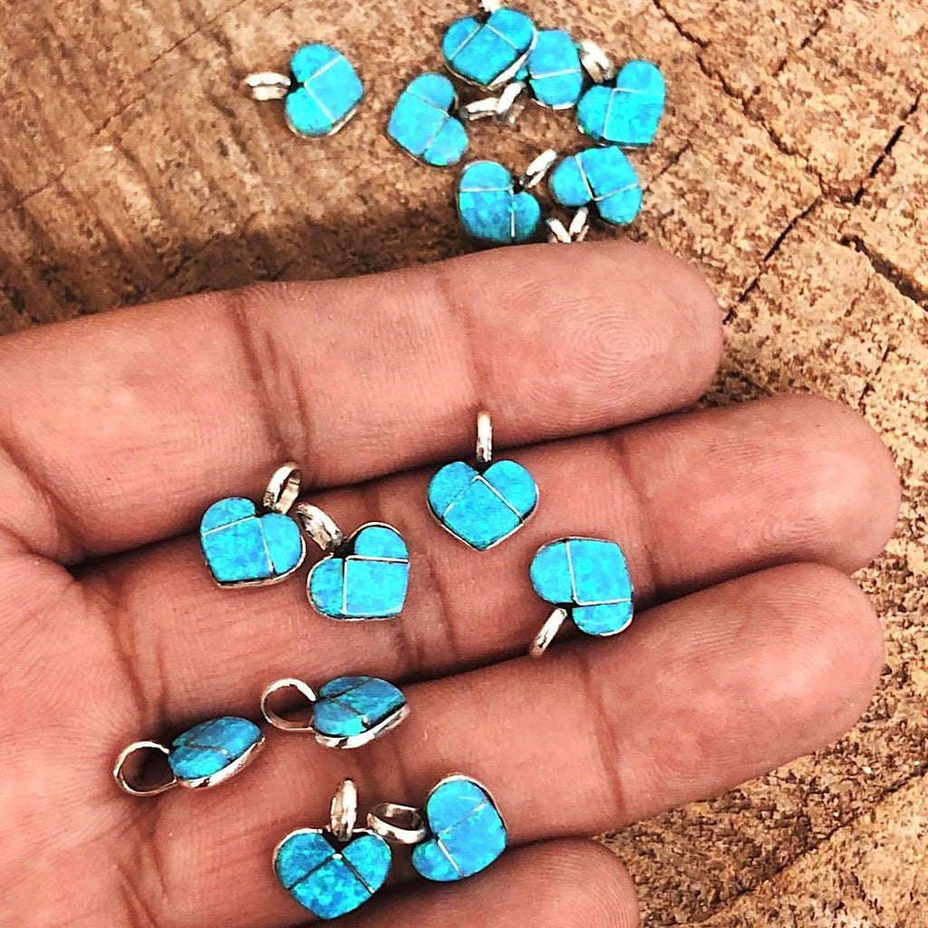 *Zuni Opal Heart Pendants