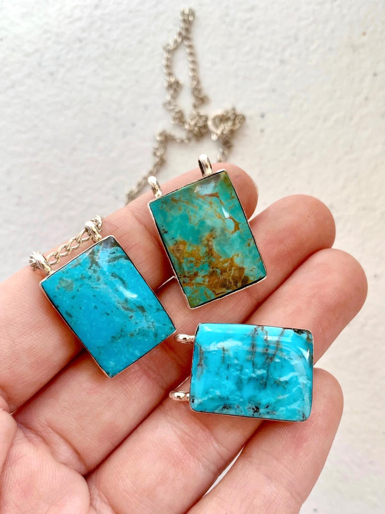 *Rectangle Slab Necklace