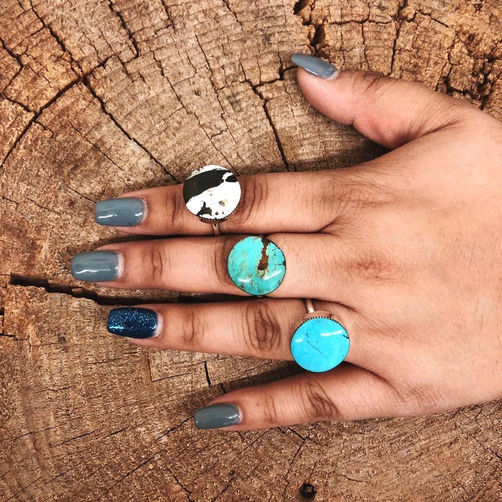 *Round Turquoise Statement Ring