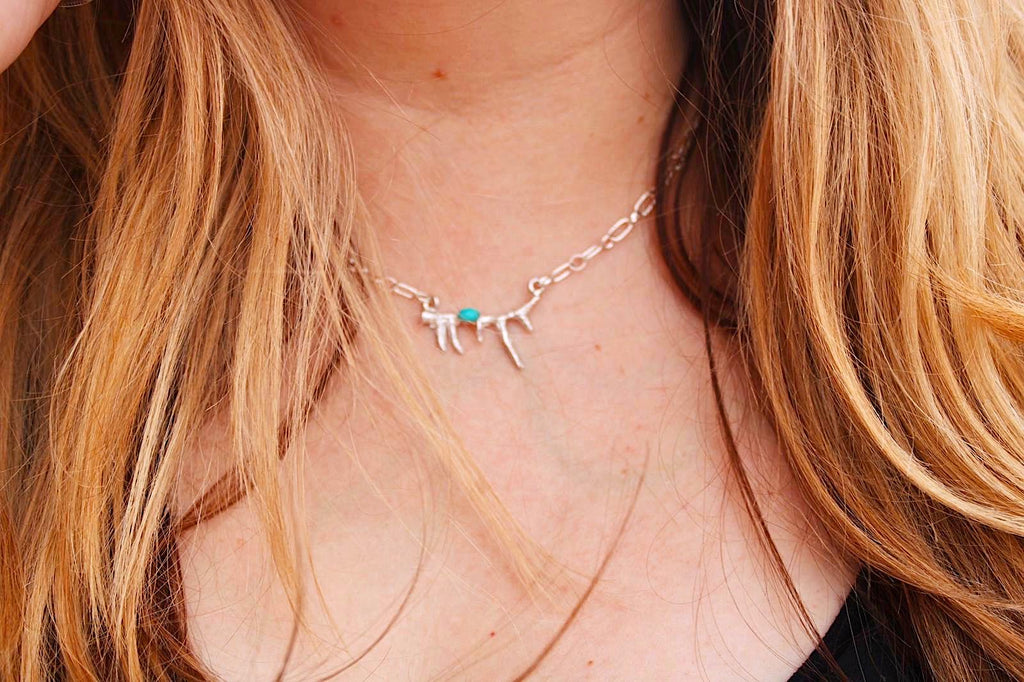 *ANTLER Turquoise Necklace