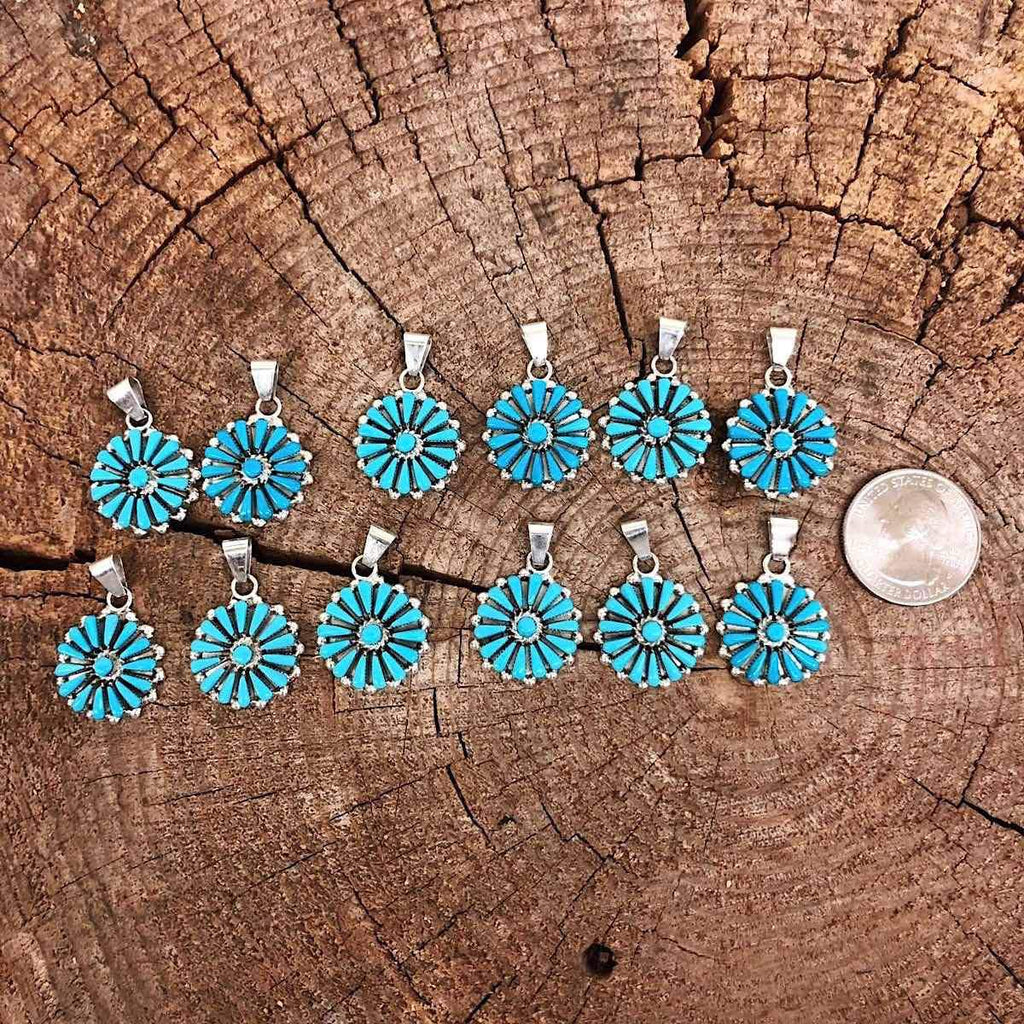 *Zuni Sleeping Beauty Cluster Pendants