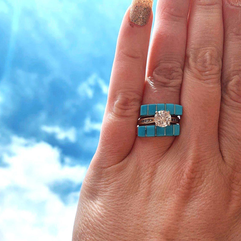 *Zuni Turquoise Inlay Ring