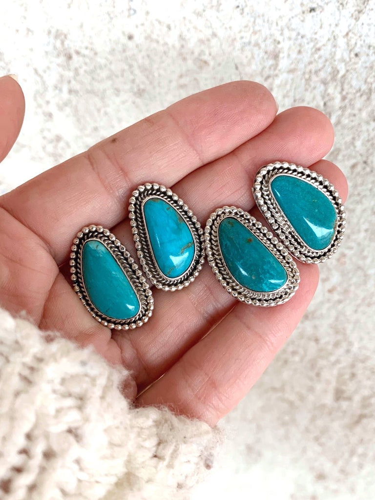 *RTS Freeform Turquoise Stud Earrings