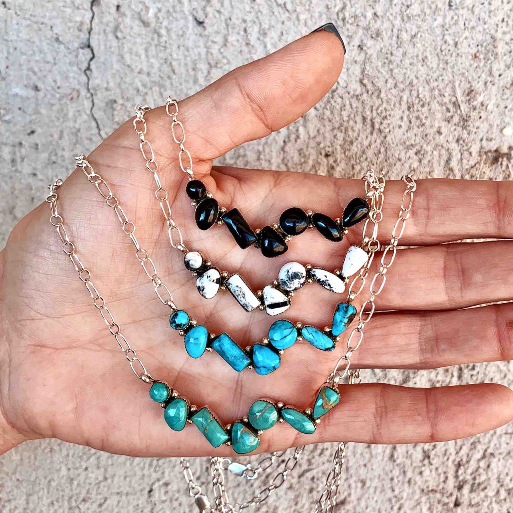 *SEVEN Mix Shape Turquoise Necklace