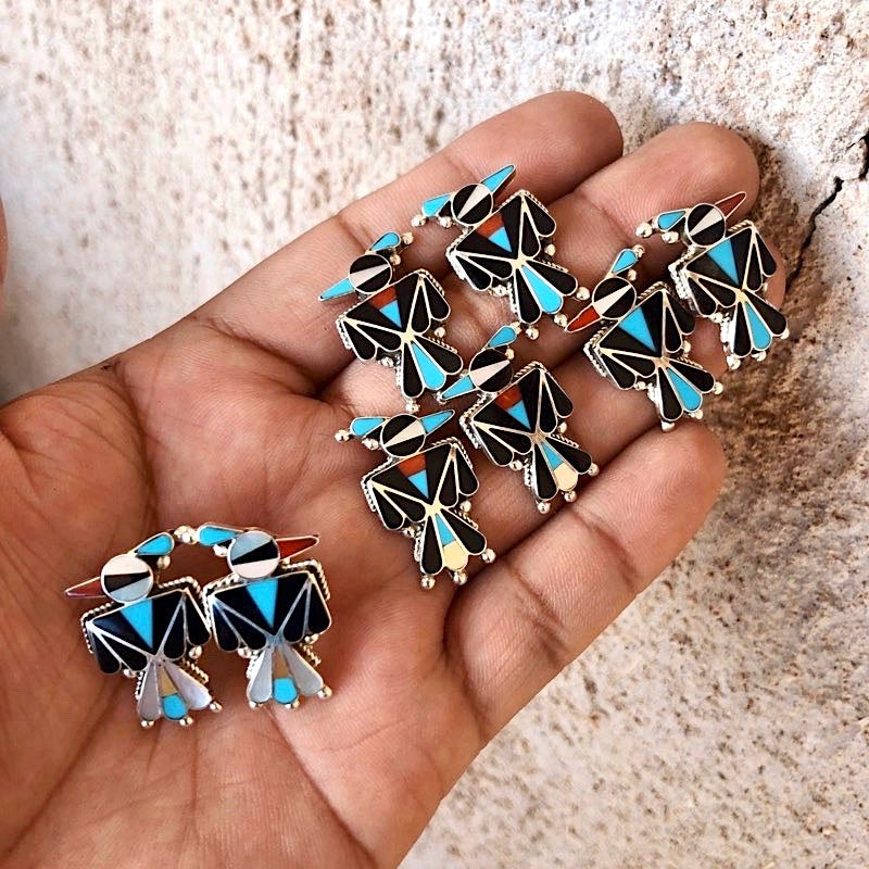 *ZUNI Thunderbird Earrings