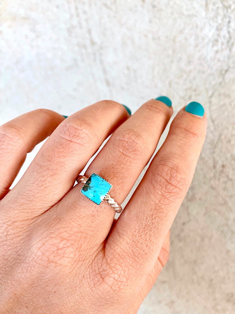*Square Twisted Stacker Ring