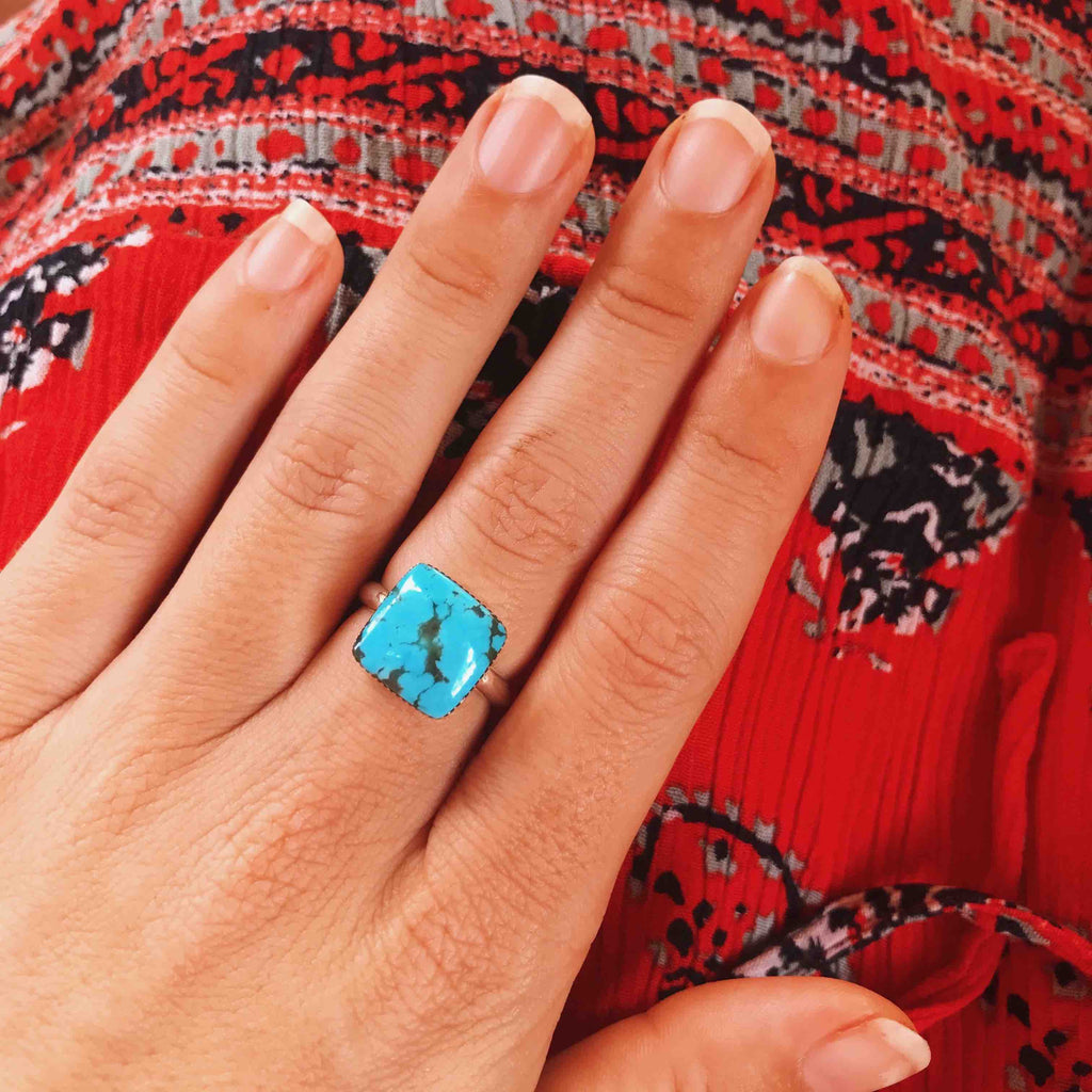 *Turquoise Square Cut Ring