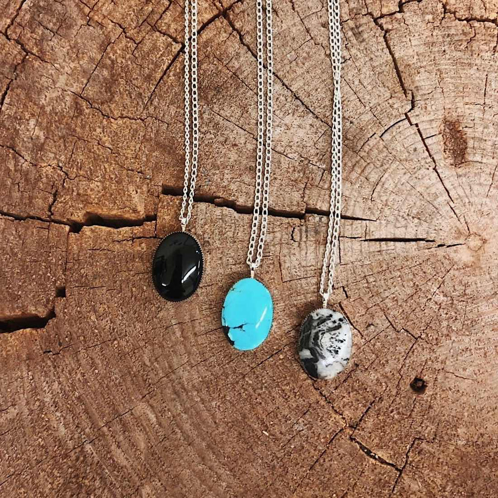 *Oval Turquoise Necklace