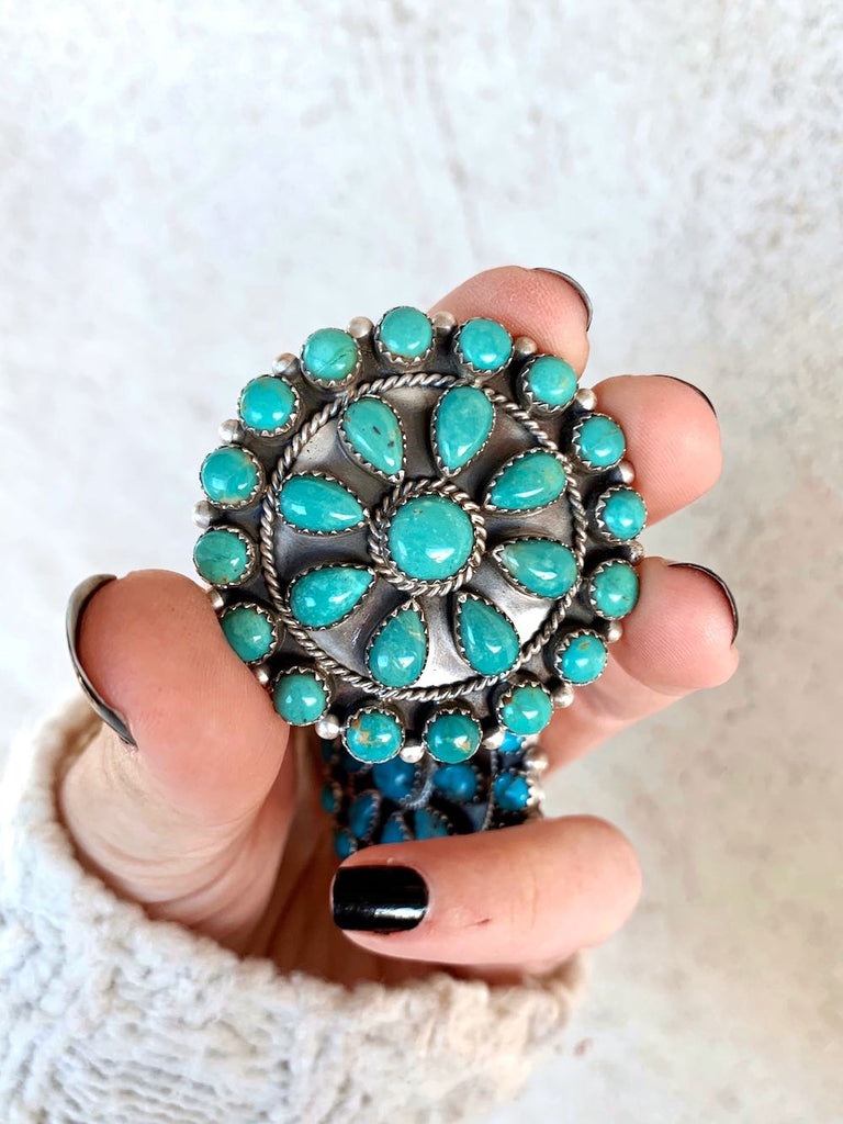 *RTS Turquoise Cluster Pin or Pendant