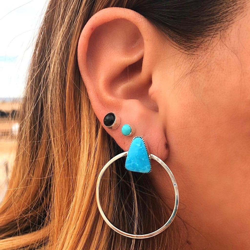 *Turquoise Everyday Hoop Earrings