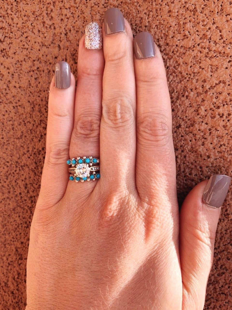 NEW* 5 Stone Zuni Stacker Ring