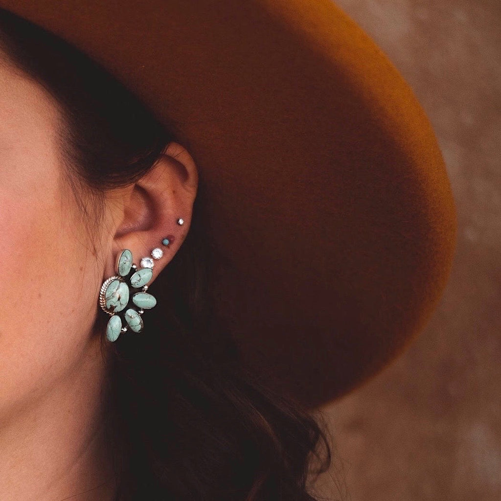*Navajo Half Cluster Earrings