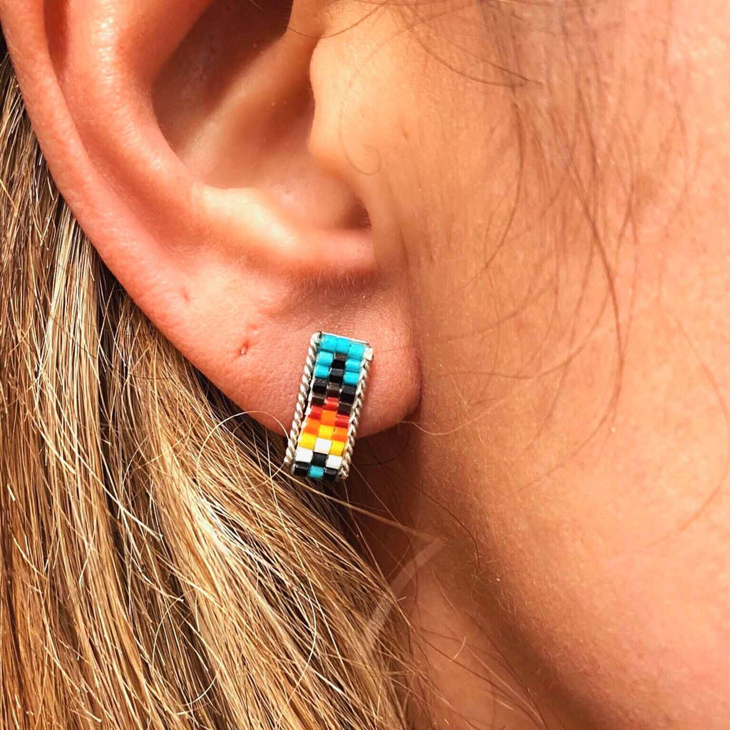 RTS ♢ BEADED Rectangle STUDS