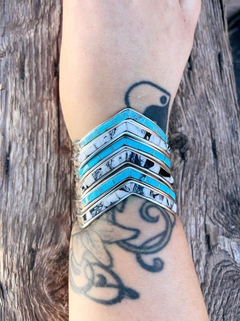 RTS ♢ NEW Chevron Cuff- WHITE BUFFALO