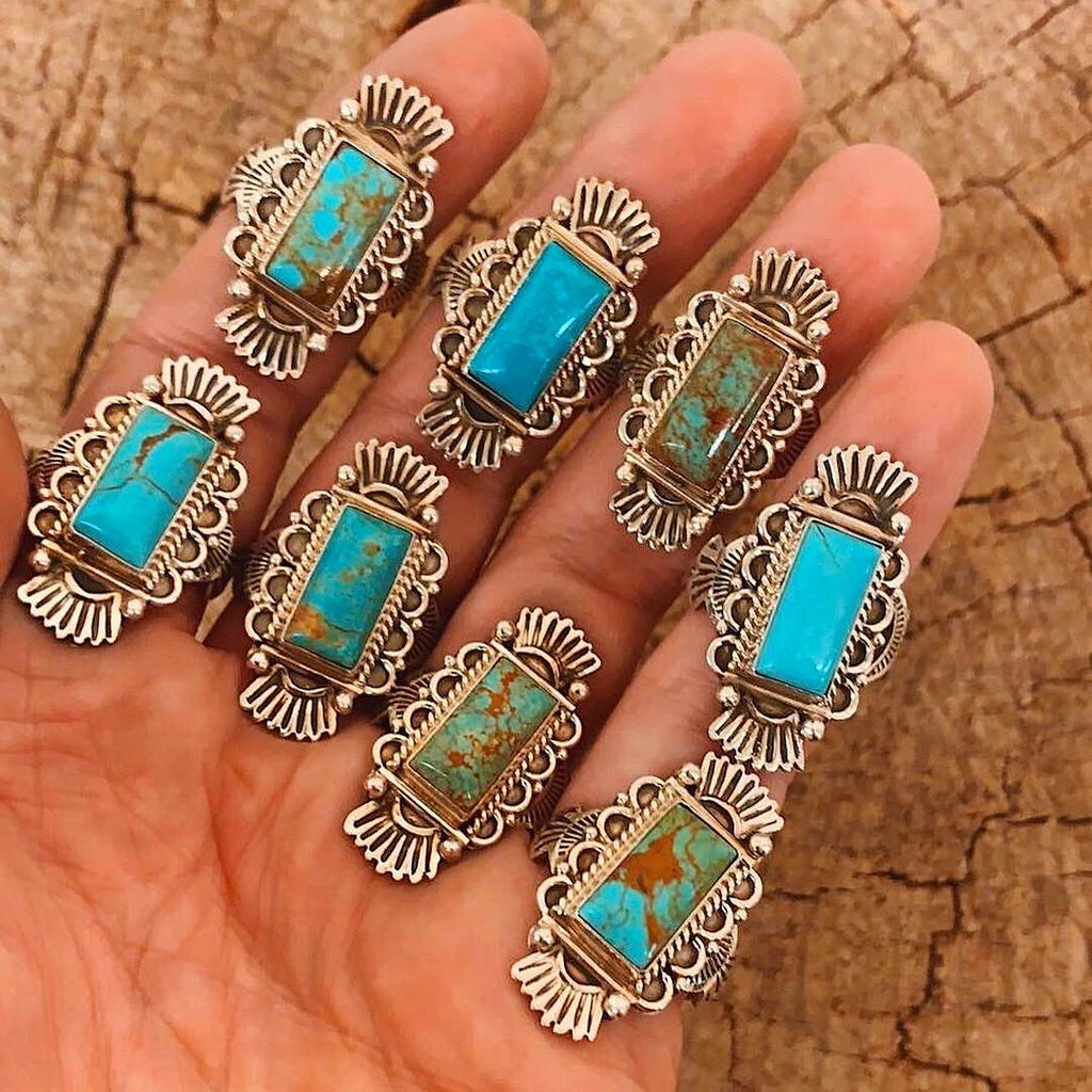 *Turquoise Rectangle Ring