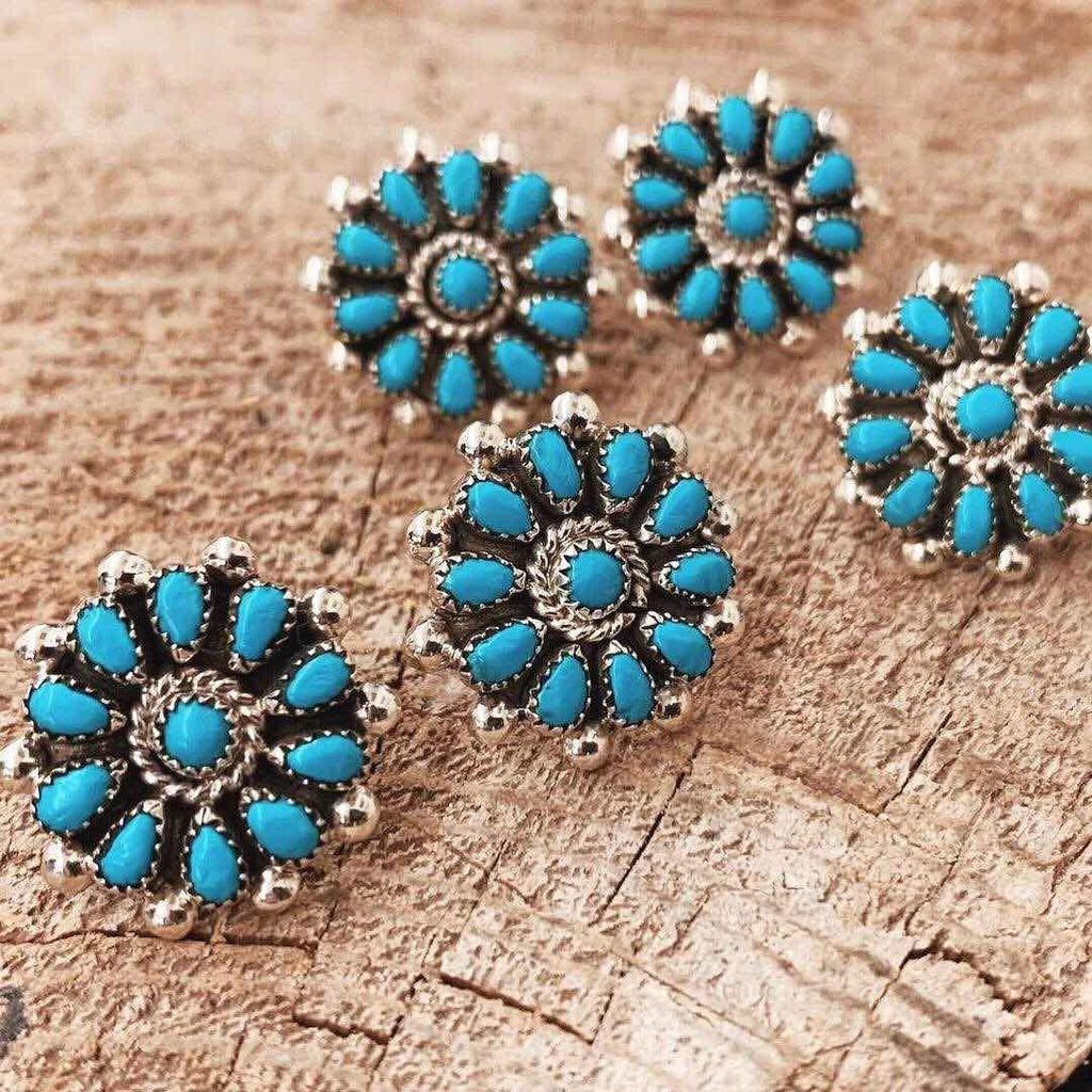 *RTS ZUNI Flower Stud Earrings