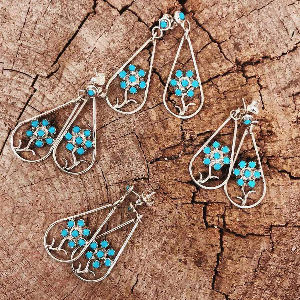 *RTS ZUNI Teardrop Dangle Earrings