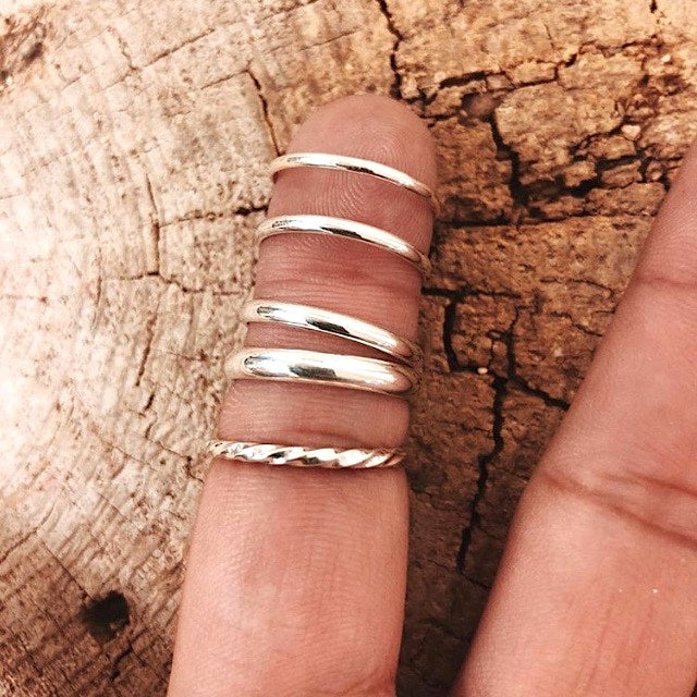 *Sterling Silver Plain Stacker Rings