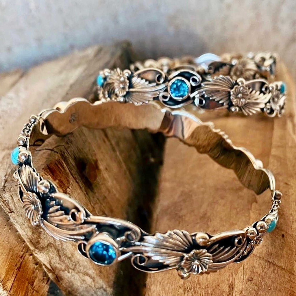 RTS ♢ TOPAZ and TURQUOISE Bangle