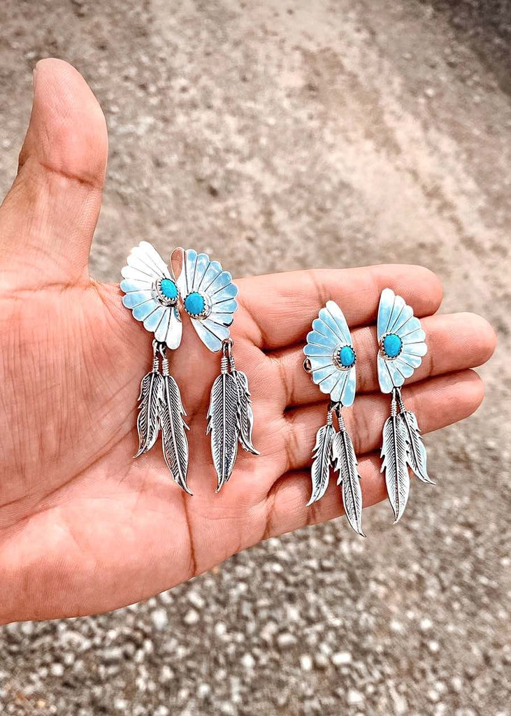 RTS ♢ FEATHER earrings ♢ TURQUOISE