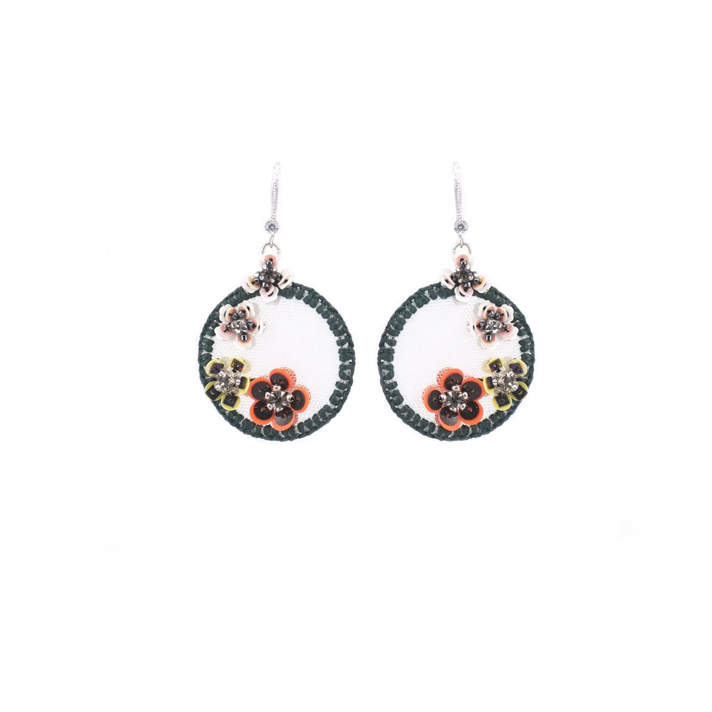 Fiesta Floral Mini Embroidery Earrings (Limited) - ADA PAT DESIGN
