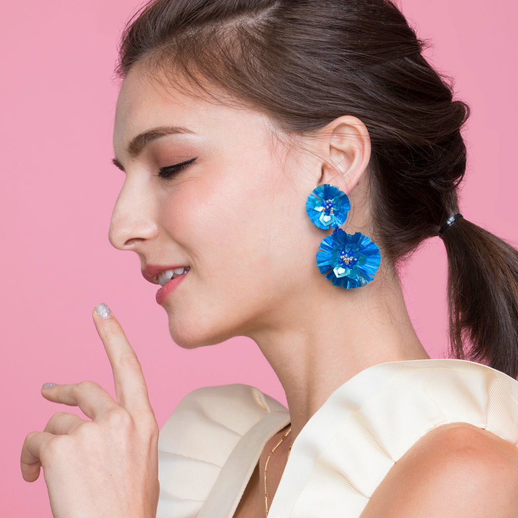 Bluebom Raffie Earrings - ADA PAT DESIGN