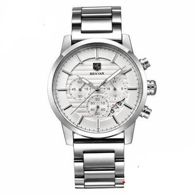 Luxury Men Watches white stainless steel