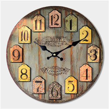 Decorative Large Wall Clock antique Vintage design model6