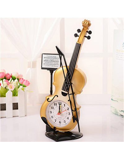 Table Clock Classic Violin Model beige color