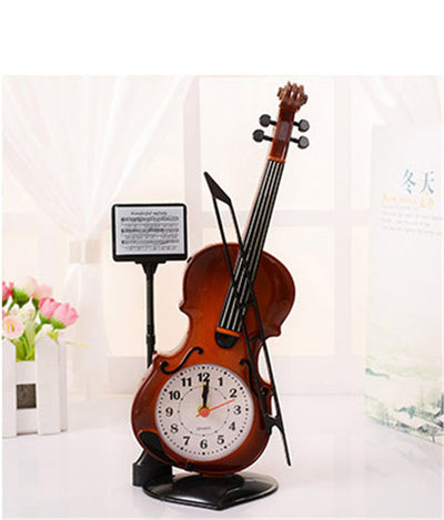 Table Clock Classic Violin Model brown color