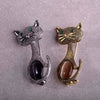 Classic Brooch Cat design