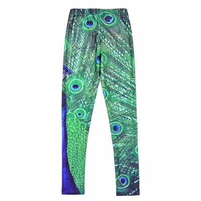 Peacock Legging, Yoga Pants
