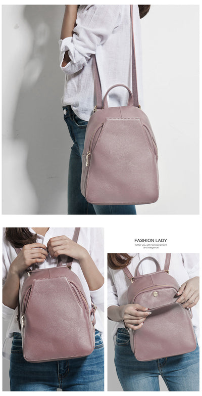 Elegant Leather Backpack for women