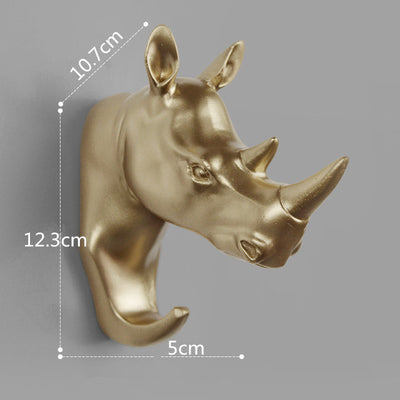 rhino wall hook gold color