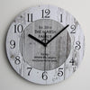 White wood Wall Clock Vintage style