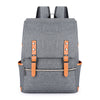 Canvas Laptop Backpacks For Teen, grey backpack