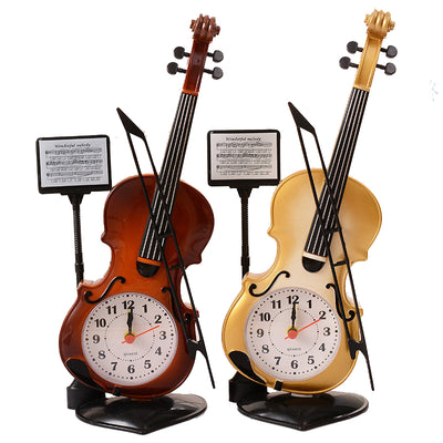 Table Clock Classic Violin Model