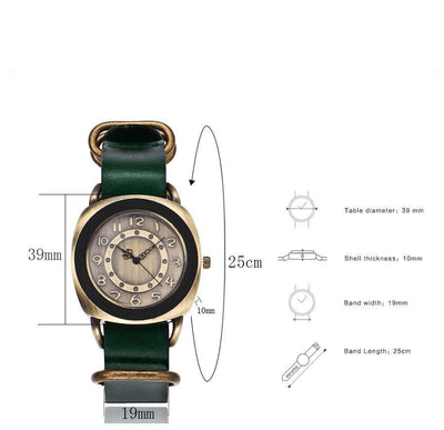 Leather Watches for women Vintage style