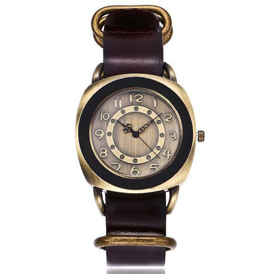 Leather Watches for women Vintage style brown bands